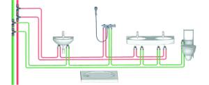 schema impianto scarico bagno